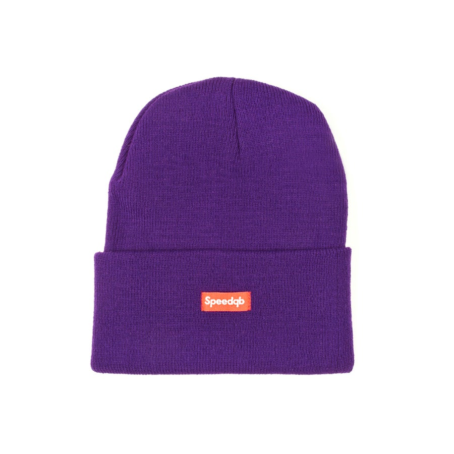Image of SpeedQB Cuff Beanie - Purple