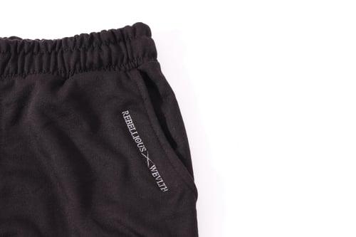 Image of RWLS Premium Fleece Ribbed Jogger Black