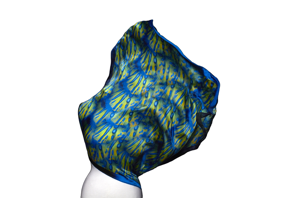 Image of PRE ORDER: As worn by Mimi Elashiri Great Barrier Reef | Mandarin Fish Silk Square