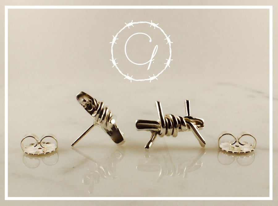 Image of Barbwire Earring Stud Set