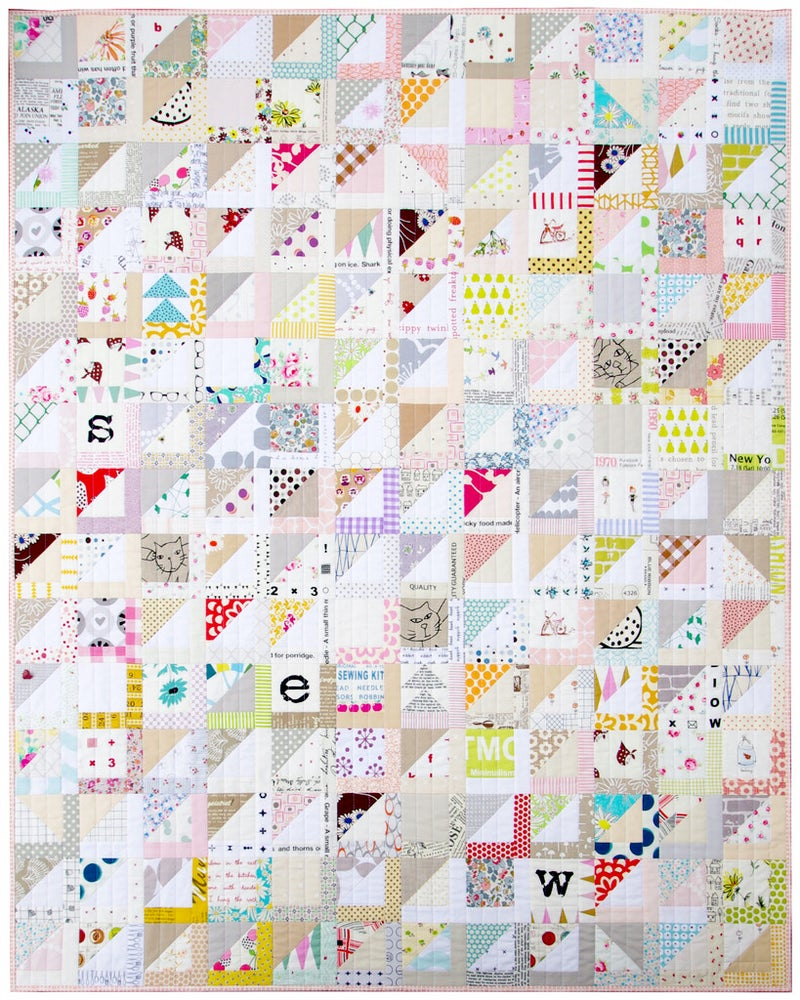 Image of Half Square Triangle Variation Quilt (PDF file)