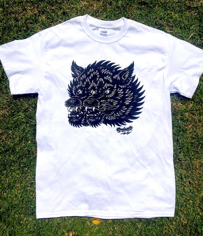 Image of Gemini Wolf shirt White