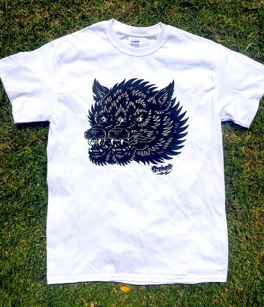Image of Gemini Wolf shirt White