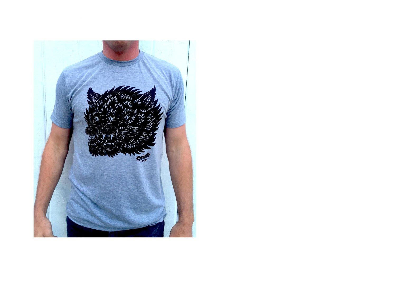 Image of Gemini Wolf shirt Grey