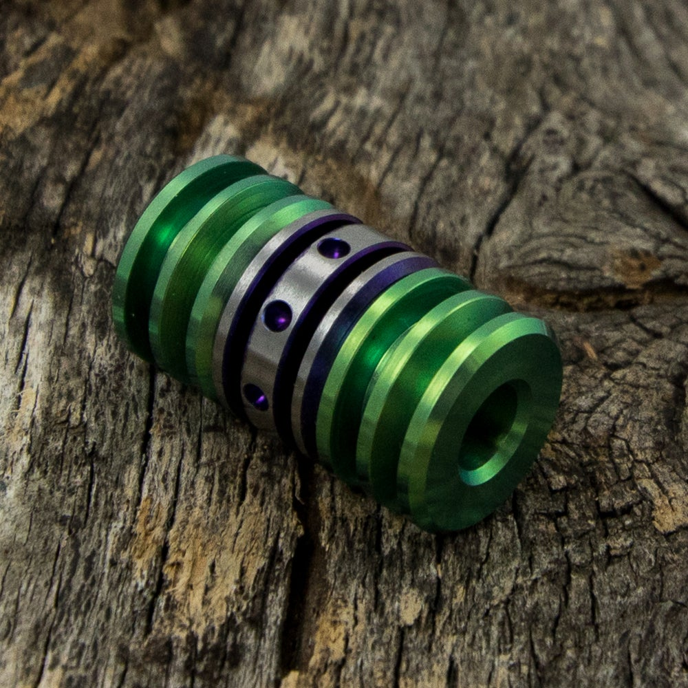 Image of Deep Purple & Lime Green Triple Bead Set #1
