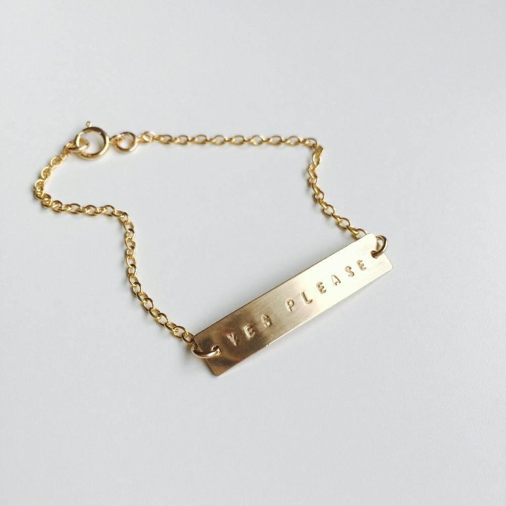 tiny bar gold personalized link or bracelet thin img silver