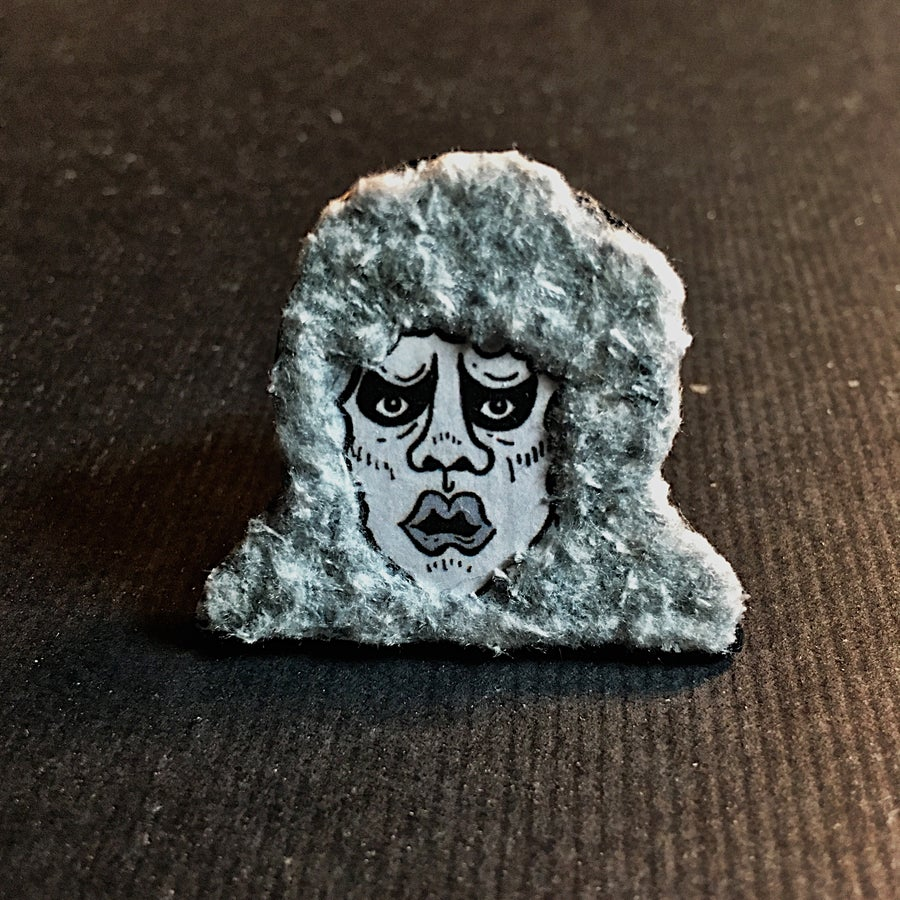 "Image of ""Bad Dream at 240,000 Inches"" Handmade Fuzzy Pin"
