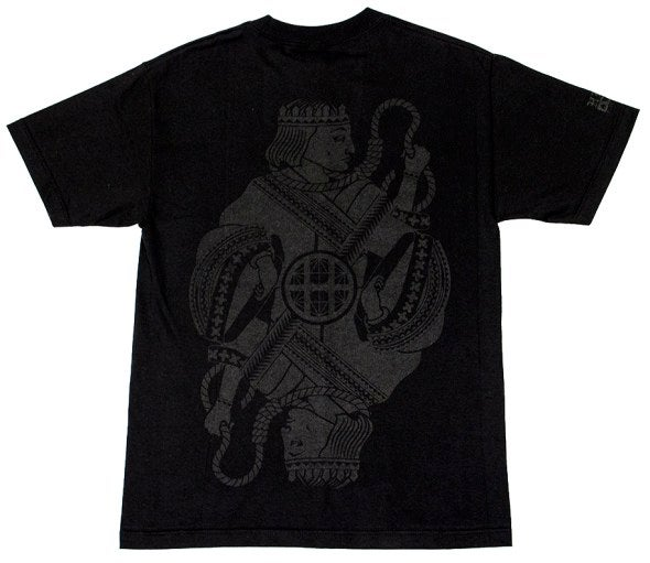 """Image of Huf x Black Scale -  King T-Shirt (Black) """"POKER"""" COLLECTION"""""""