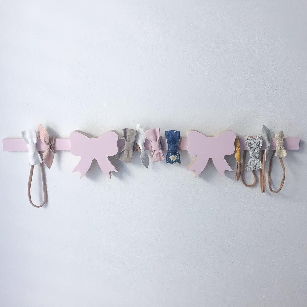 Image of Double Medium Bow head band wall hanger 60cm