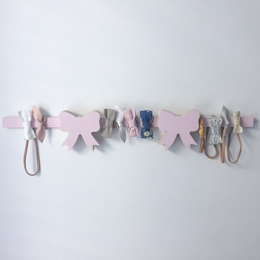 Image of Double Medium Bow head band wall hanger 60cm