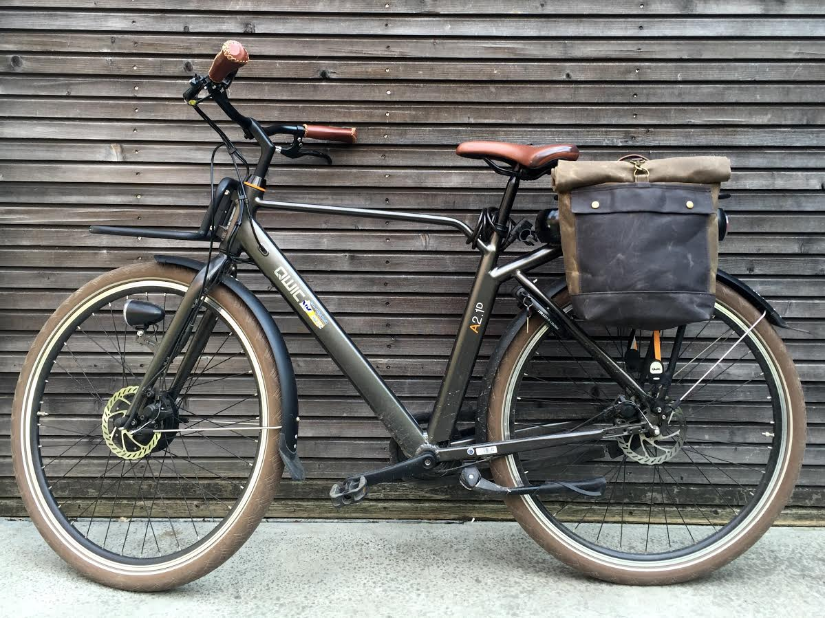 Image of Motorbike bag / motorcycle bag / bicycle bag / pannier in waxed canvas / bike accessories