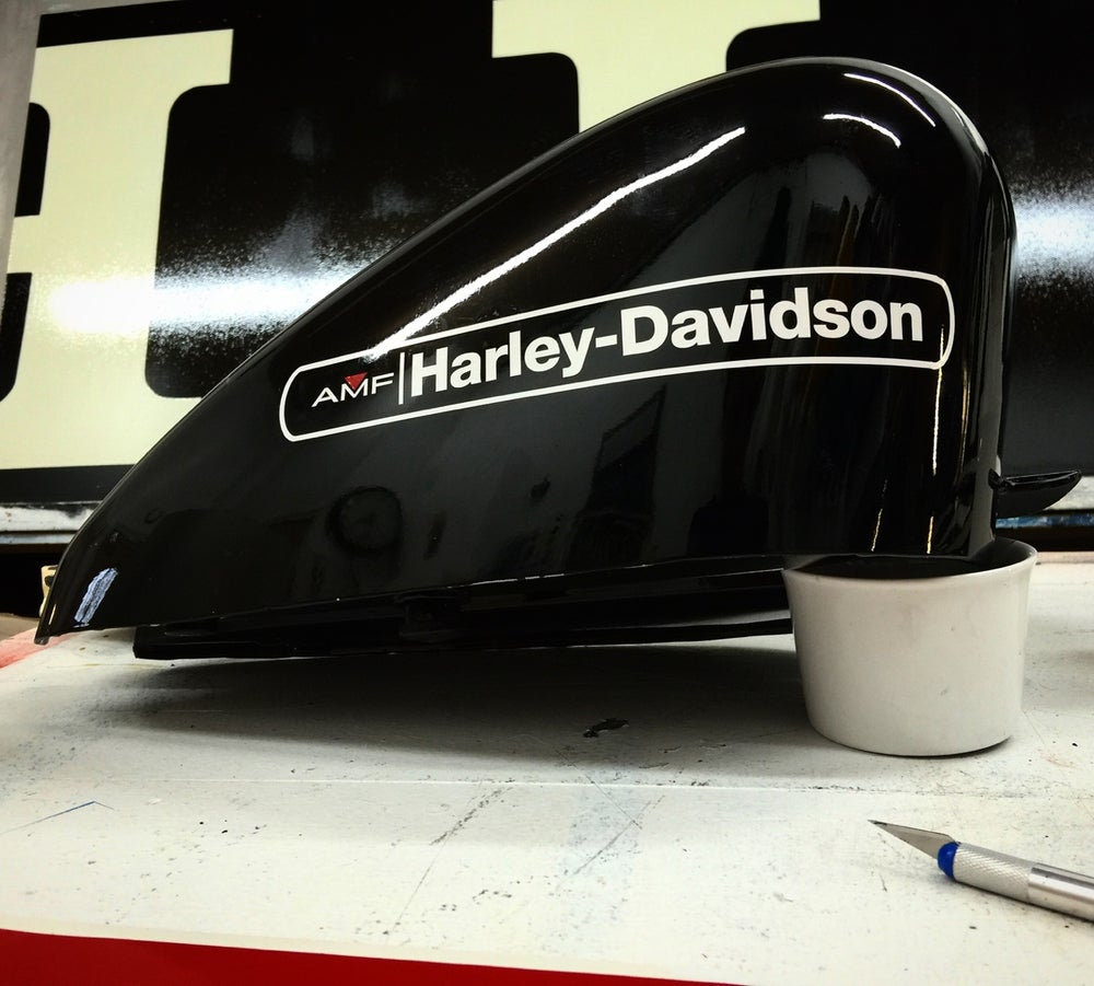 Image of Harley AMF Decal (Pair)