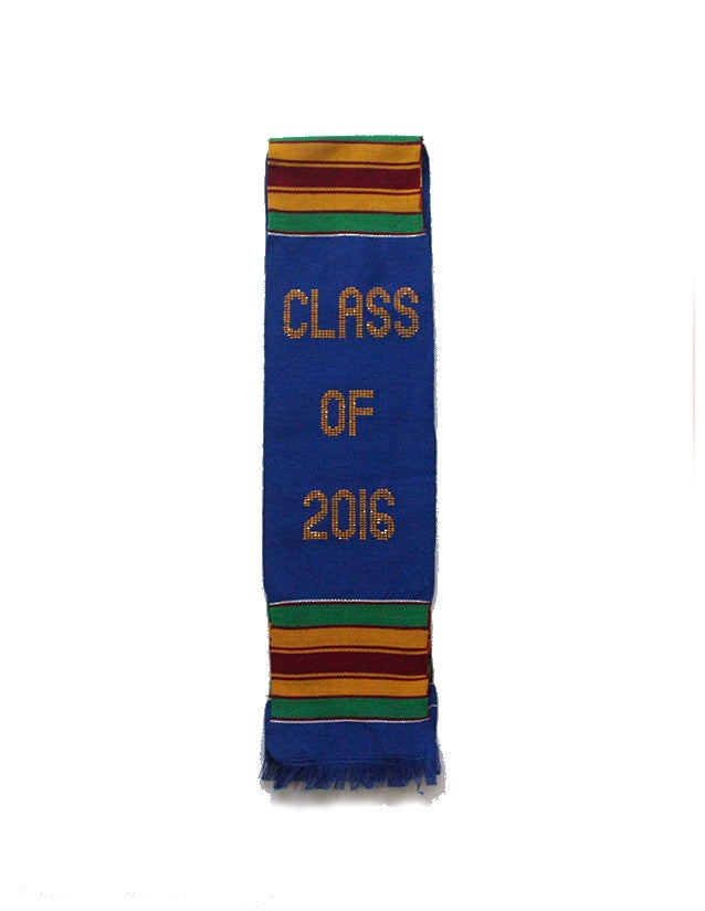 Image of Class of 2016 Blue Graduation Stole