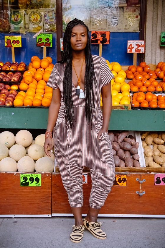 Image of •JéJé• Leisure Jumpsuit: Sienna Stripe