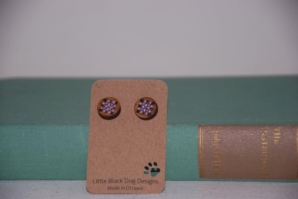 Image of Little Black Dog Designs~ Cross Stitch Studs