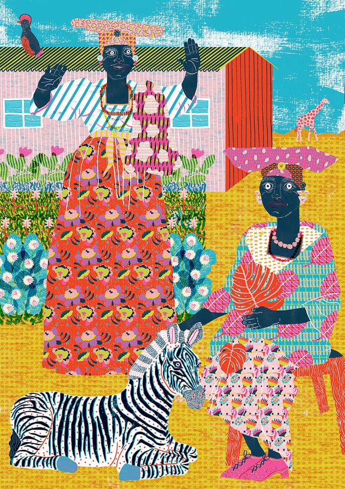 Image of Herero Women Print