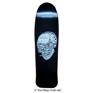 "Image of Confusion Skate-Life Skull deck (8.25"" or 8.6"")"