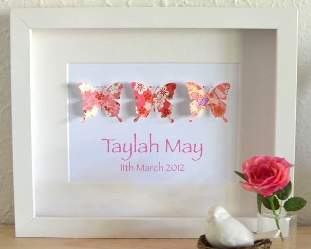 Image of Trinity Butterflies - Quality Personalised Framed Artwork
