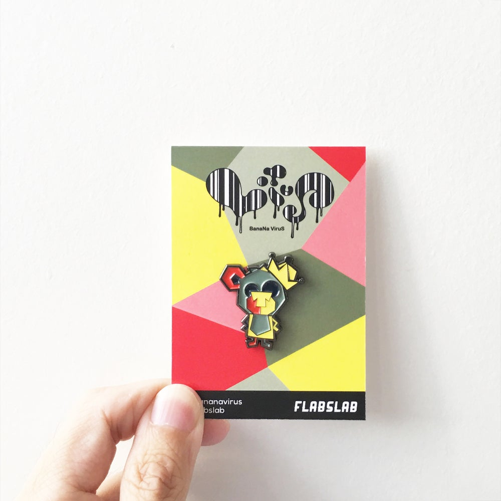 Image of Baby Loic Bear enamel pin