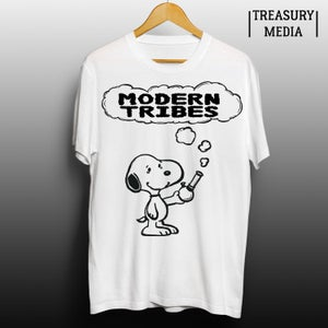 Image of Modern Tribes Snoopy Bong Tshirt.