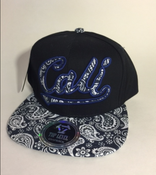Image of BLUE CALI SNAP BACK HAT