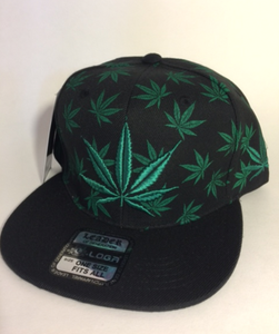 Image of GREEN KUSH SNAP BACK HAT