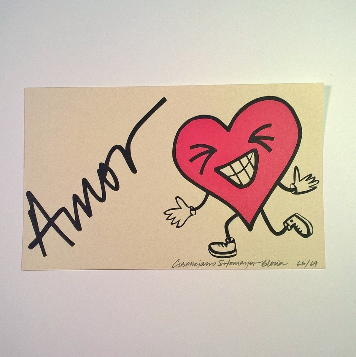"Image of ""Amor"" (Love) - Greeting Card"