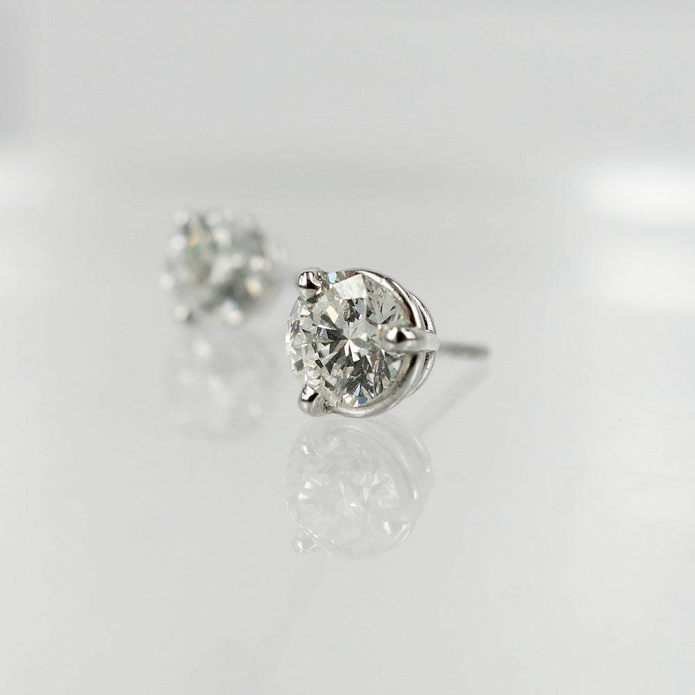 Image of 18ct White Gold Diamond Studs