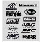 Image of BMW CCA die cut decal kit, one color.