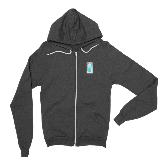 Image of illfunk - i love this game - Zip Up Hoodie - Unisex - Grey