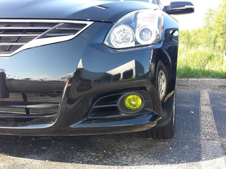 Image of (All Altimas) JDM Inspired Frosted Yellow Tinted Foglight Inlays