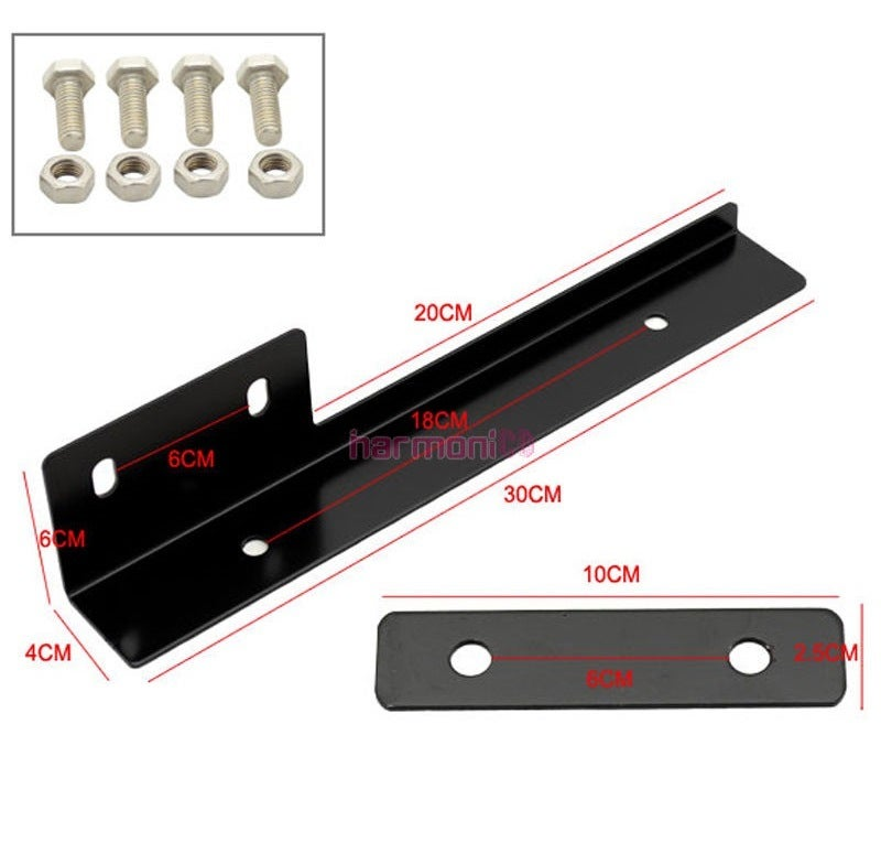 Image of (All Altimas) Front Bumper License Plate Relocation Bracket (Red/Black/Blue/Gold)
