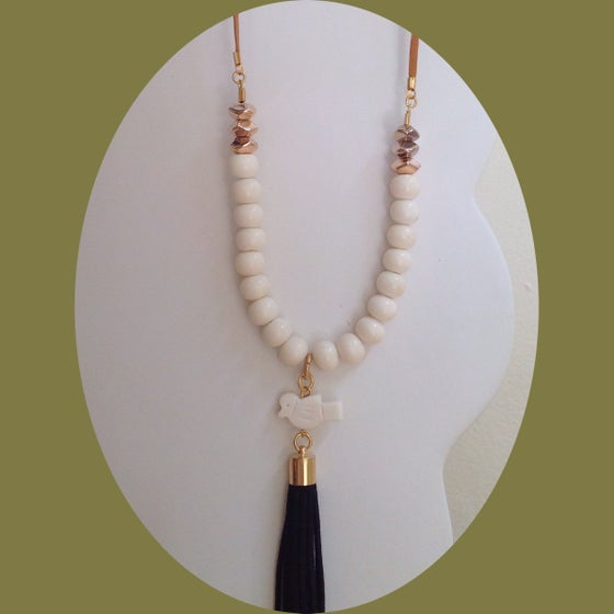 Image of Cream bone bead necklace