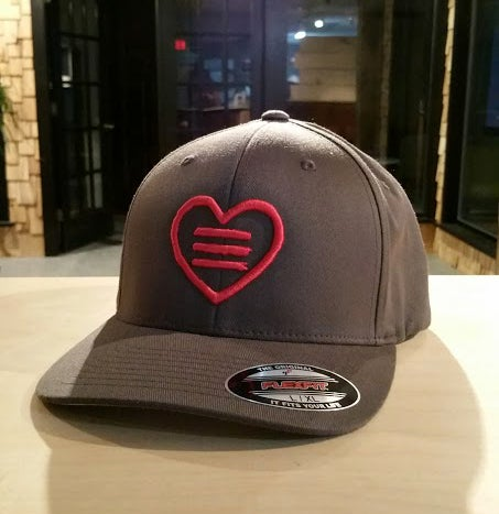 Image of Heart Logo 3D Embroidered Fitted Hat L/XL