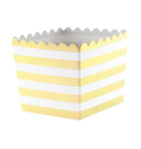 Image of {Gold Stripe} Scallop Favour Box