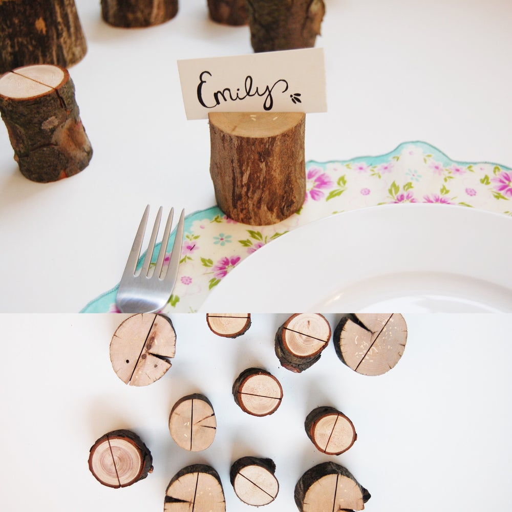 Image of Wooden Place Card Holders