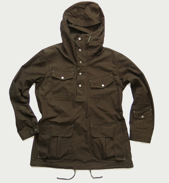 Image of CONNOISSEUR ANORAK [OLIVE/BROWN]