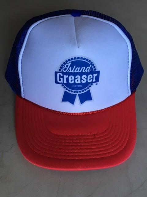 Image of Trucker Hat Blue Ribbon