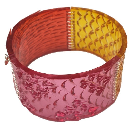 Image of swatch cuff - rosewater, barley sugar + red
