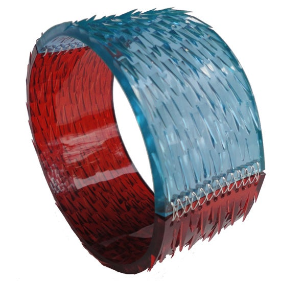 Image of skin deep bangle - red + Turquoise