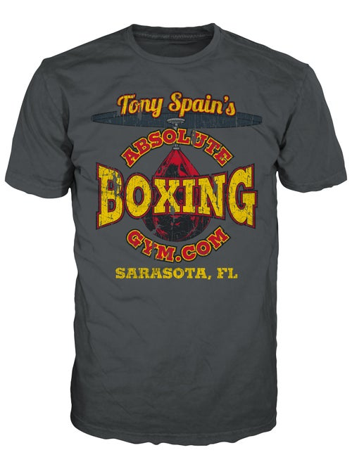 Image of Retro Boxing T-shirt (Heavy Metal or Black)