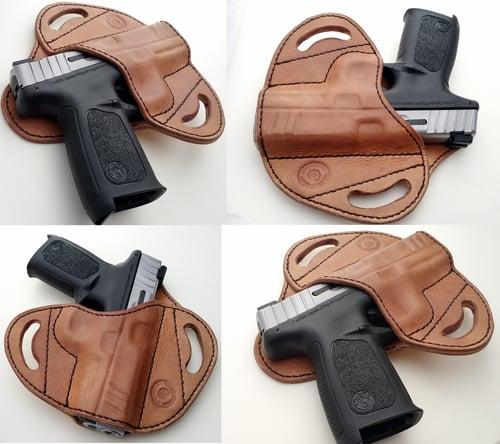 Image of Custom Hand tooled Pancake or Avenger style Gun Holster