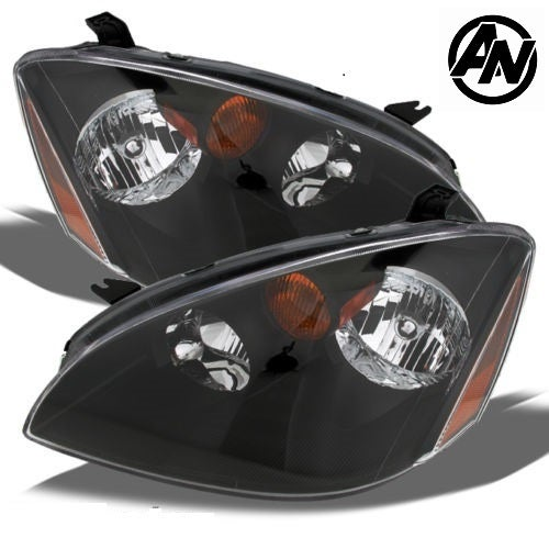 Image of (L31) 02-04 Altima SE-R STYLED BLACK HEADLIGHTS