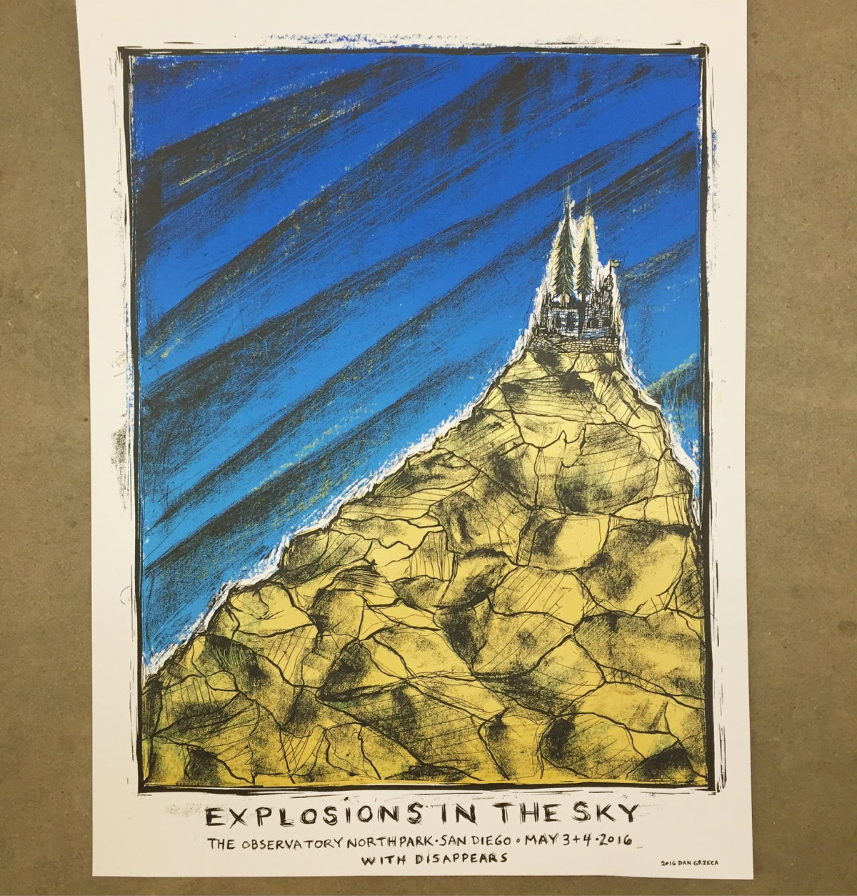 Explosions in the Sky San Diego Poster