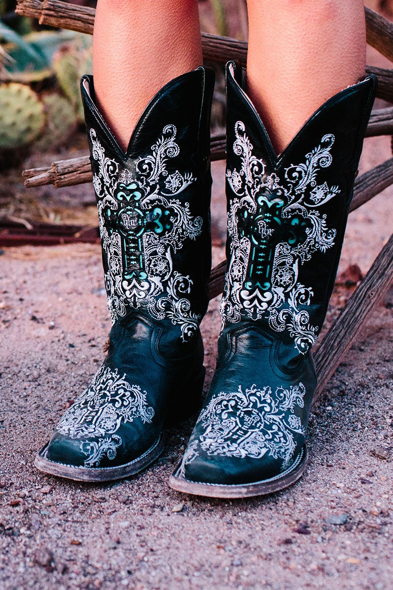 Image of Dally Boots Black : Women's NBR Nothing But Rodeo Collection by Dusty Rocker Boots