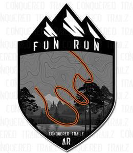 """Image of """"Fun Run"""" Trail Badge"""
