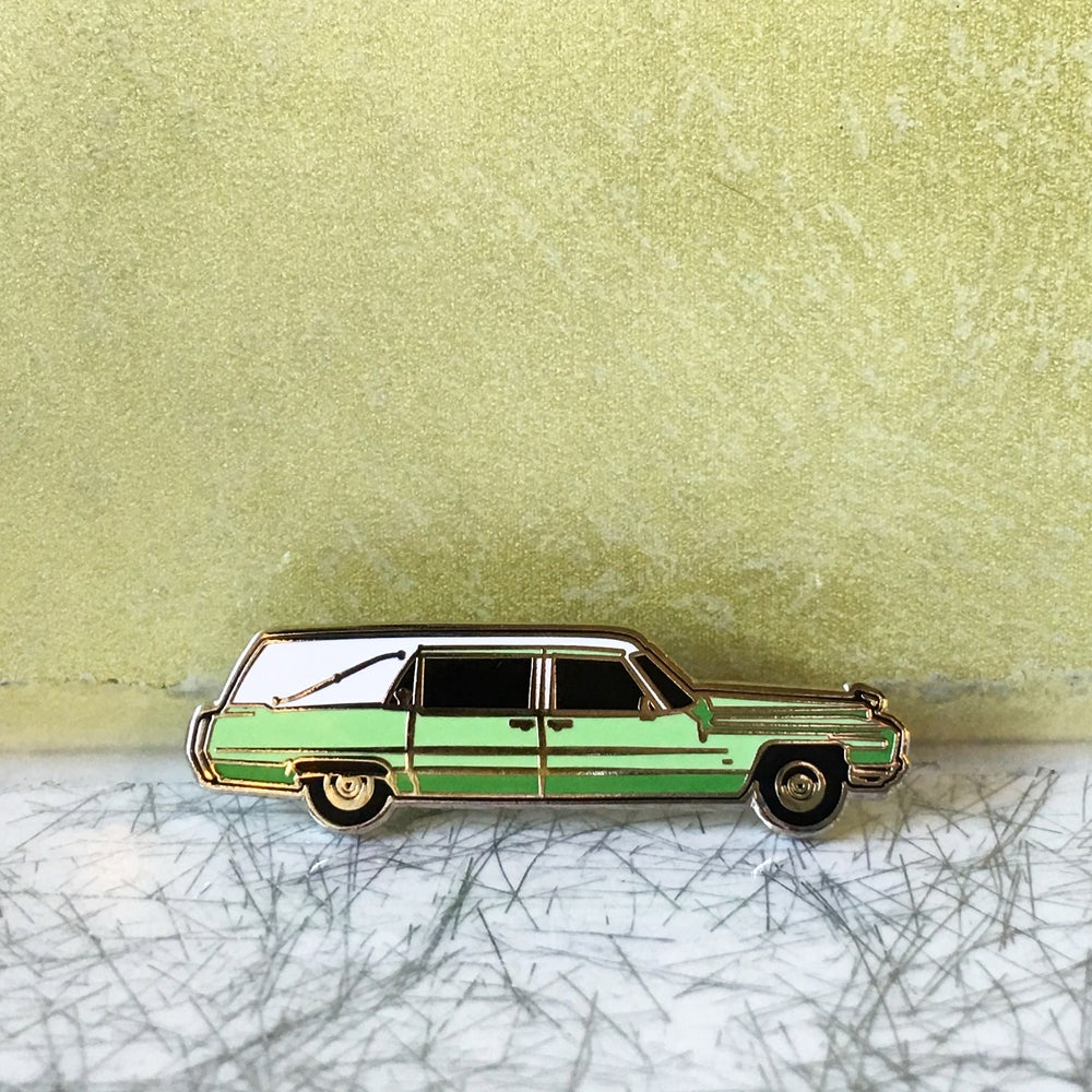 Image of Six Feet Under tribute - Claire Fisher's Hearse pin