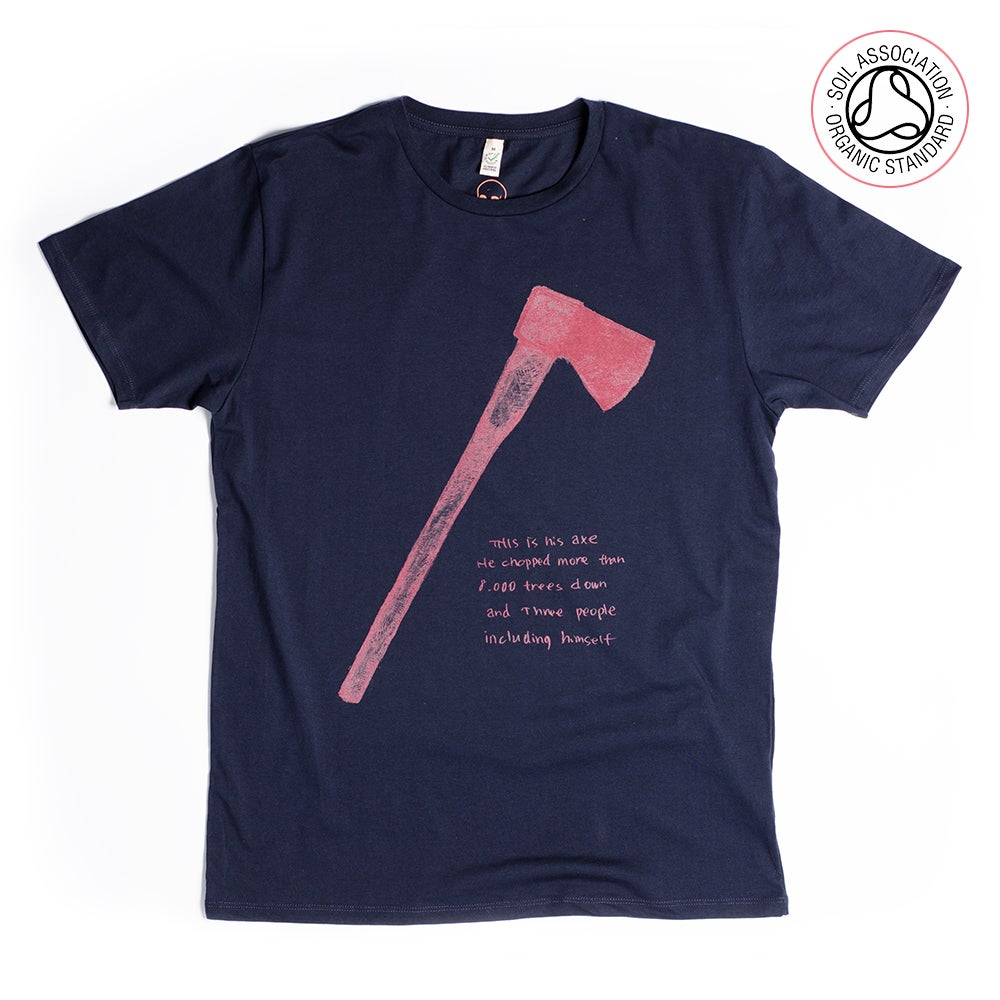 Image of Axe Navy Unisex T-shirt (Organic)