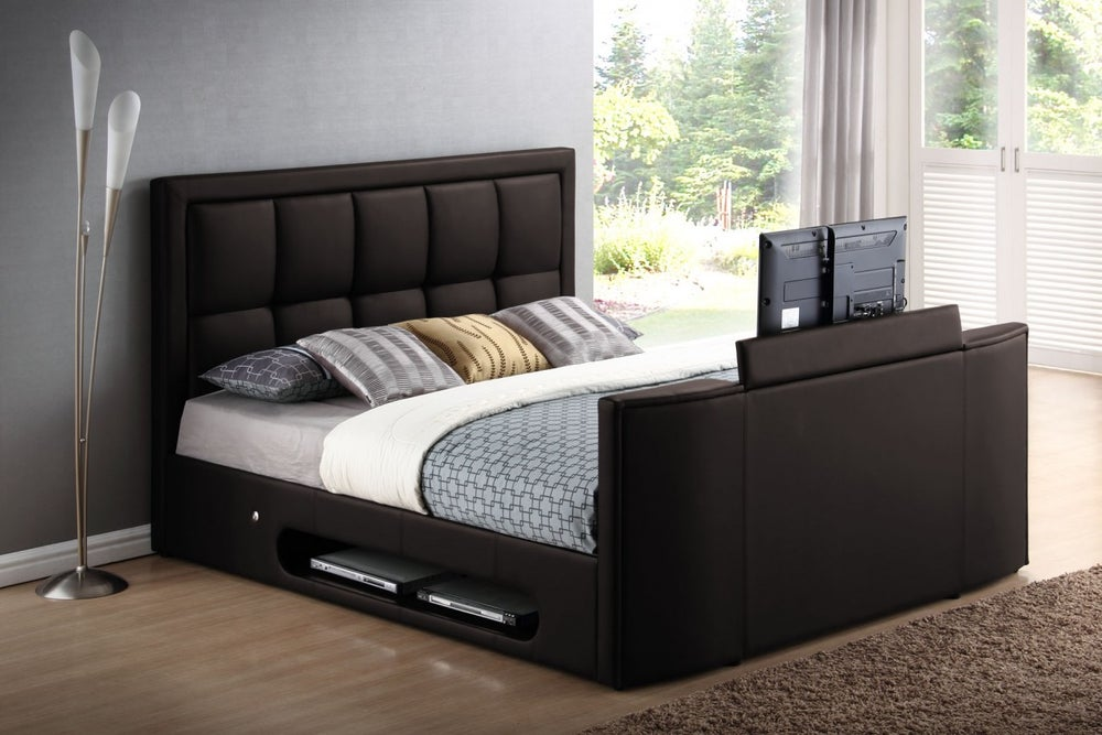 Icon Glam Tv Bed, Queen Size Tv Bed
