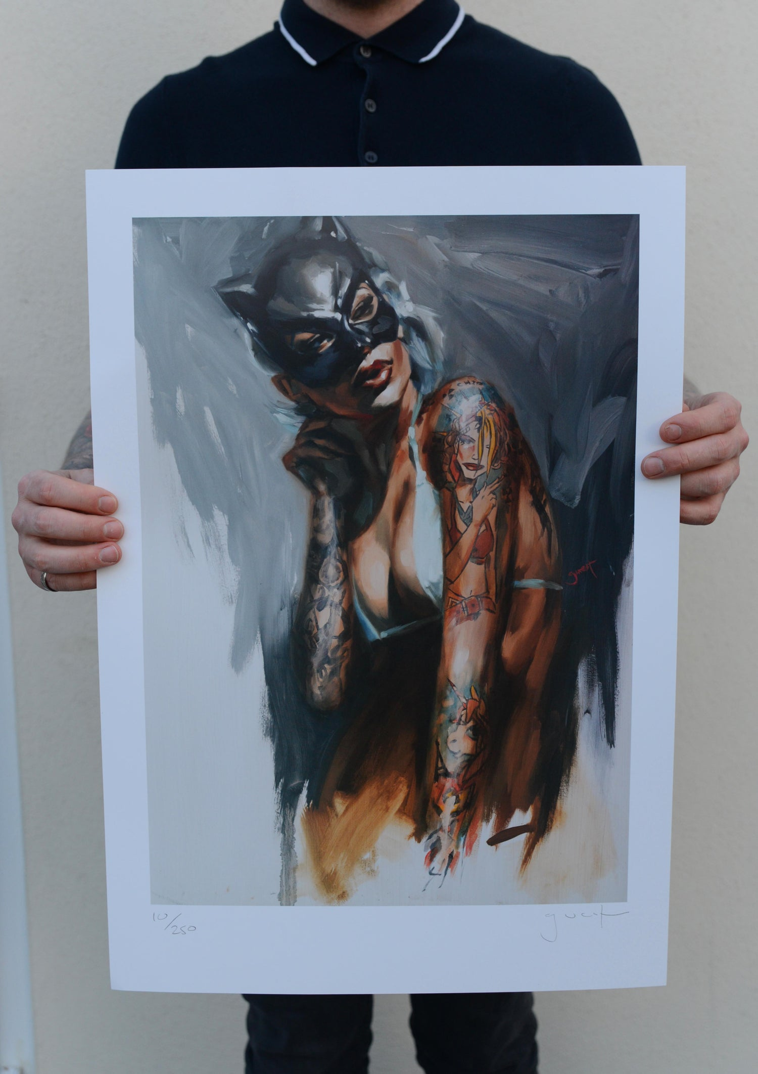 Image of Limited Edition 'Mask' Lithograph Print